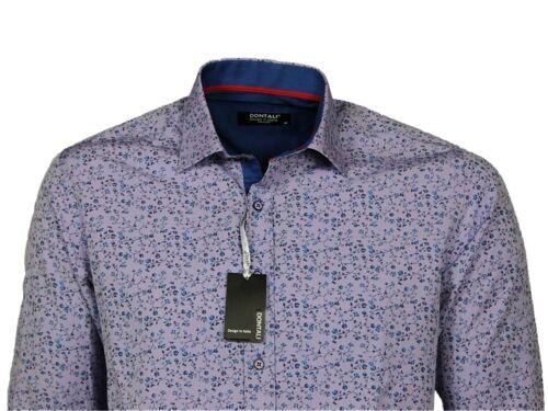 XXL Dontali Mens Long Sleeve Shirt Formal Casual Cotton Printed Designer Tops S