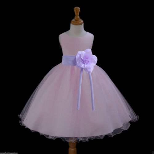 Pink Flower Girl Dress Wedding Bridesmaid Birthday Pageant Formal Graduation New