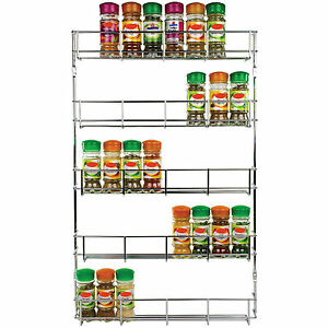 5-Tier-Chrome-Spice-Rack-Holds-40-Jars-Spices-Organise-Seasoning-Kitchen-Shelves