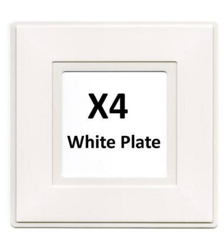 BG X4 Simple Interrupteur De Lumière Blanc Doigt 1 G plaque arrière Surround 8804