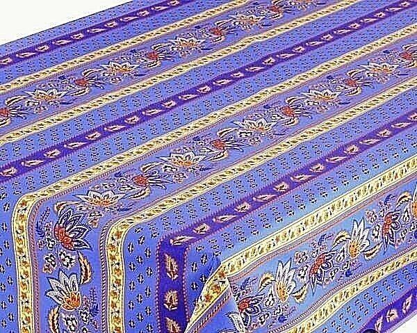 LE CLUNY, LISA bleu, french Provence enduit Coton Nappe, 60  X 60  Square