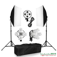 BPS 1520W Photo Studio Kits d'Eclairage Continu Softbox Quatre Têtes FR