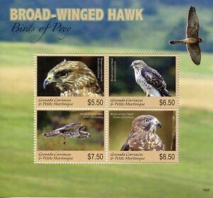 Intelligent Grenade Grenadines 2018 Neuf Sans Charnière Petite Buse Birds Of Prey 4 V M/s Hawks Timbres-afficher Le Titre D'origine CaractéRistiques Exceptionnelles