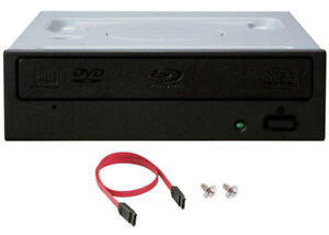 Pioneer BDR-212DBK Internal 16x Blu-ray Writer Drive Bundle - SATA Cable+Screws