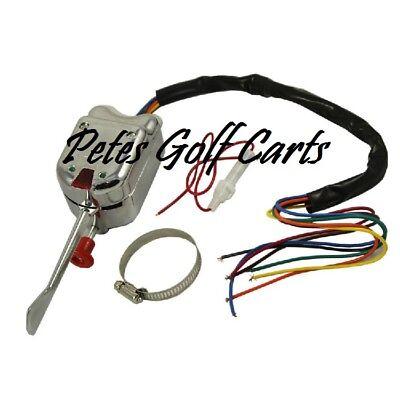 universal signal switch wiring diagram golf cart turn signal switch chrome universal club car ezgo yamaha  chrome universal club car ezgo yamaha