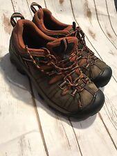 Keen Hiking Shoes Men's 11 US 44.5 EU Brown Leather Mesh Voyageur Walking Lace