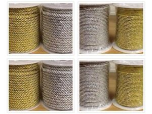 Metallic-Cord-Rope-Lurex-Gold-or-Silver-3mm-5mm-and-7mm-Short-or-Long-Lengths