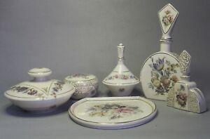 Unique-Rare-Bohemian-Porcelain-6-Pieces-Perfume-Toilette-Set-of-Hermann-Scholz