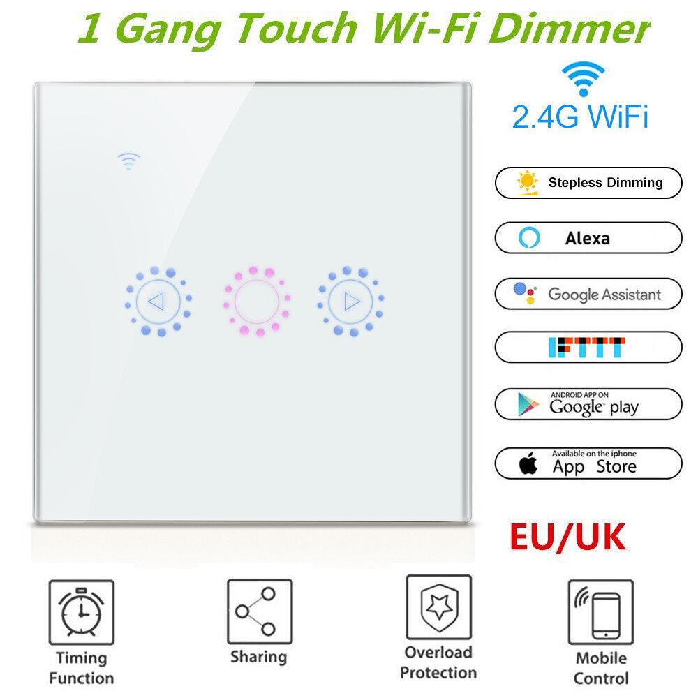 EWELINK WIFI SMART Touch Dimmer Switch UK Standard Wall Panel APP Light  Control