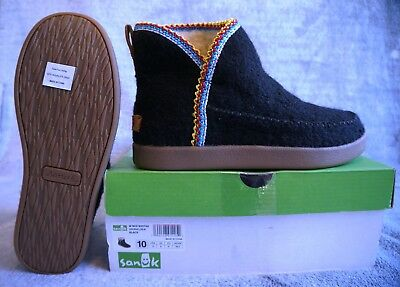 Sanuk Casual Boots Womens Nice Bootah Ankle Pull On Black 1019561