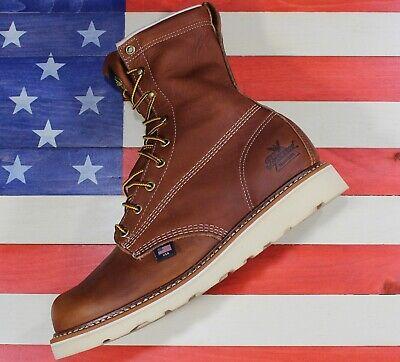 "THOROGOOD AMERICAN HERITAGE PLAIN-TOE WEDGE 8/"" WORK BOOTS 814-4364 ALL SIZES"