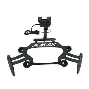 Motorcycle-Phone-USB-GPS-Stand-Holder-For-Yamaha-X-MAX125-250-300-400-2017-2019