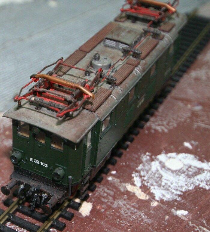 Roco H0 43441 Elektrrolokomotive BR 32, DB, gealtert, 2L =
