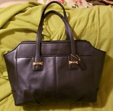 a329b13d42 item 5 AUTHENTIC COACH F25205 TAYLOR LEATHER ALEXIS CARRYALL PURSE MIDNIGHT  BLUE -AUTHENTIC COACH F25205 TAYLOR LEATHER ALEXIS CARRYALL PURSE MIDNIGHT  BLUE