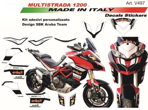Adesivi per Ducati Multistrada 1200  2015//2017 design Aruba Team