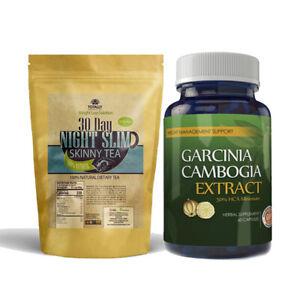 Garcinia Cambogia Weight Loss Caps Night Slim Tea Bags Combo