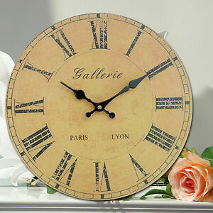 large antique wooden vintage retro style country wall clocks 34cm ebay