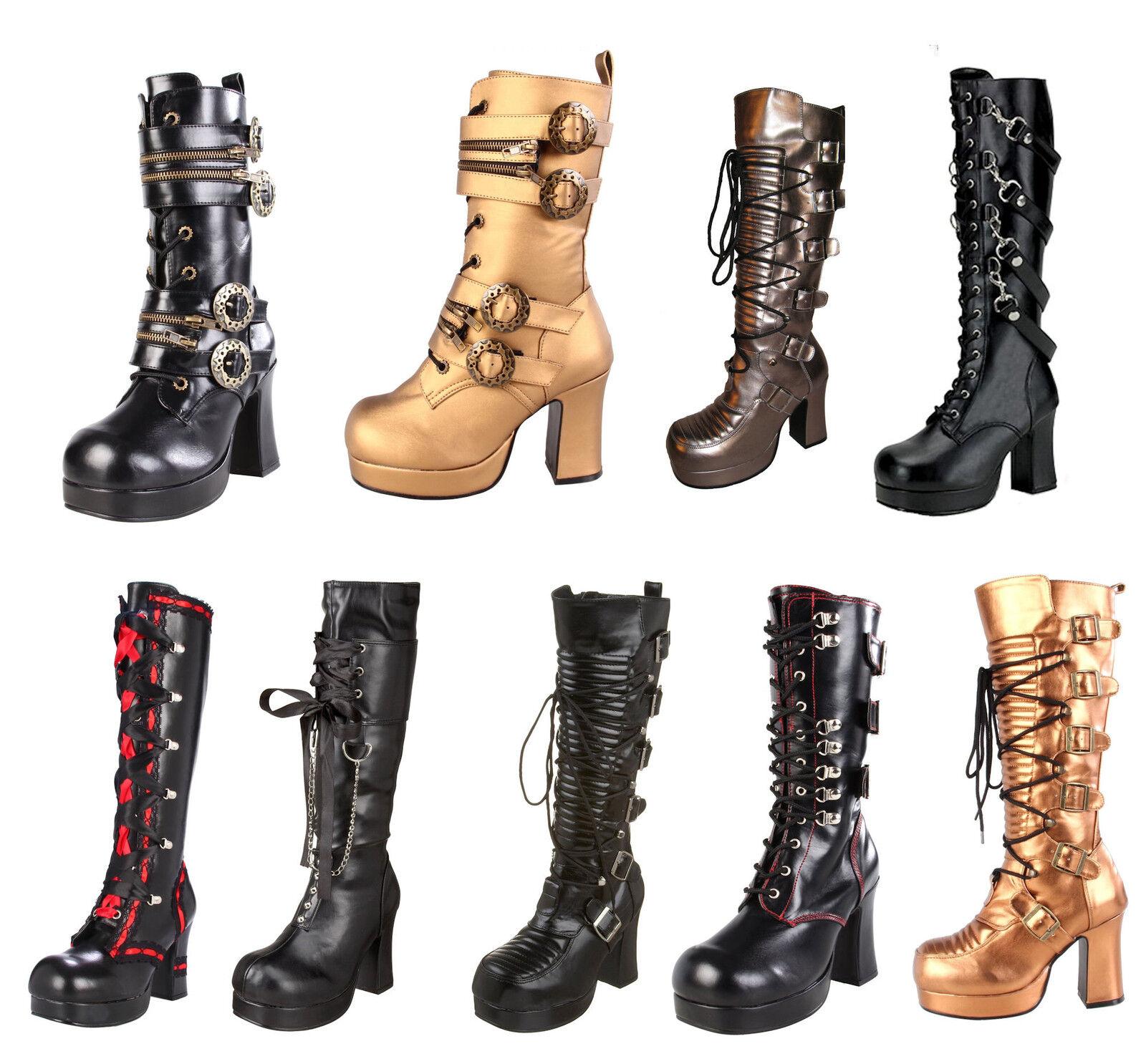 Demonia Punk Gothic Goth  Womens Boots Gothika
