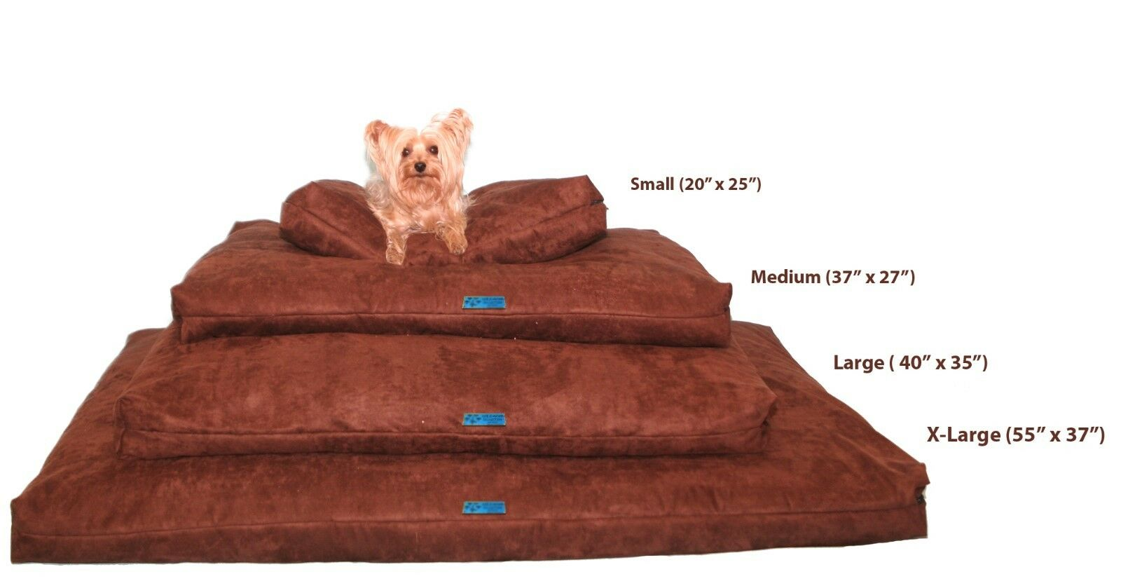 Shredded Memory Foam Orthopedic Dog bed for Large Breed Dogs,40 Dogs,40 Dogs,40 x35 ,Marronee 97fbdf