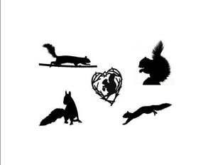 Squirrels in B&W Custom Notecards ~ Pack of 5 (Blank) by Gifted Pet Creations