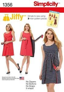 SIMPLICITY-SEWING-PATTERN-VINTAGE-1970s-JIFFY-REVERSIBLE-WRAP-DRESS-6-22-1356
