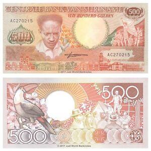Surinam-500-Gulden-1988-P-135b-Billetes-Unc