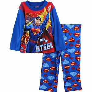 DC Comics Batman 2 PC Long Sleeve Button Down Pajama Set Boy Size S 6//7