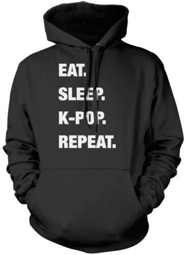 Eat Sleep K-Pop Repeat KPOP Kids Unisex Hoodie