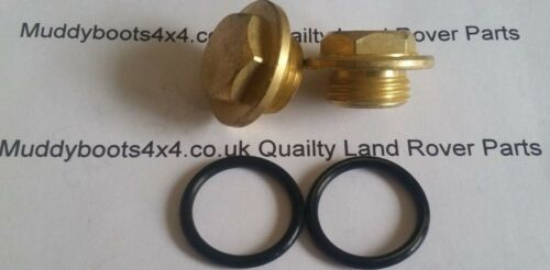 """LAND ROVER DEFENDER DISCOVERY RRC X2 BRASS BLEED PLUGS /""""O/"""" RINGS ERR4686b"""