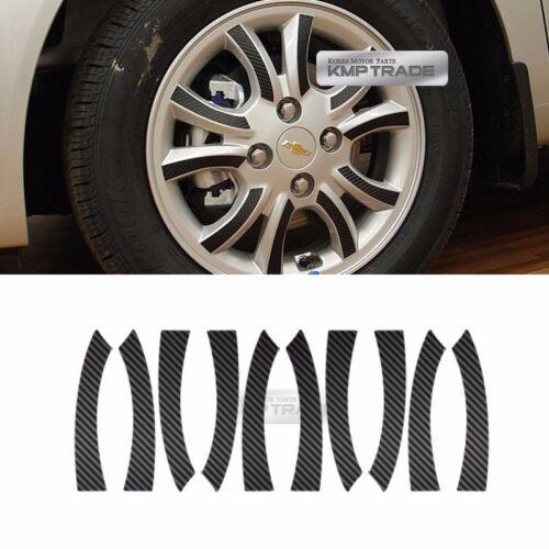 "Carbon Black Spoke Wheel Vinyl Decal Sticker 14/"" 40Pcs for Chevy 2013-2015 Spark"