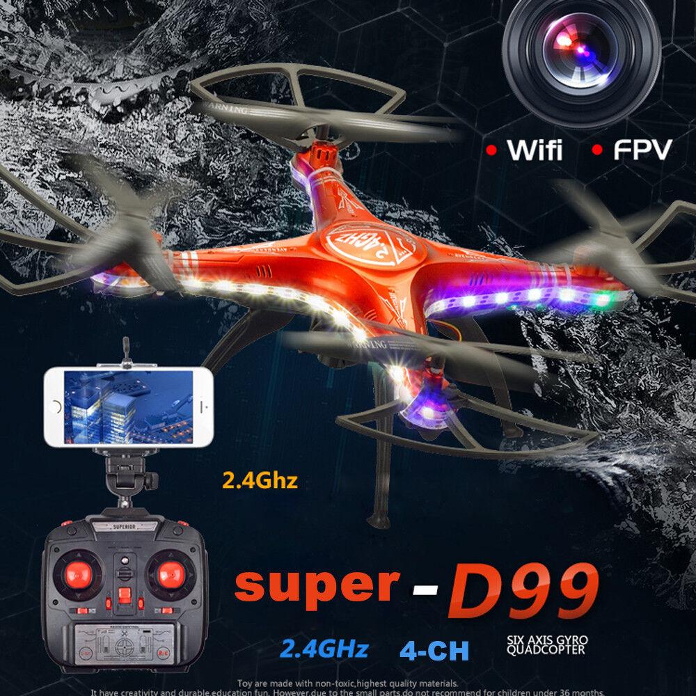 Shengkai d99a rc quadcopter drohne wifi fpv 2mp kamera 2.4g 4ch 6axis wasserdicht