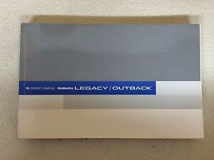 2006 subaru legacy outback owner s owners manual guide books rh ebay com 1999 Subaru Legacy Manual 2006 subaru legacy owner's manual download