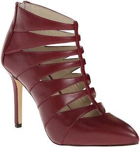 cf5b0a9ccc9 Details about MICHAEL Michael Kors Woman's Mavis Back Zip Heel Dress  Booties Claret
