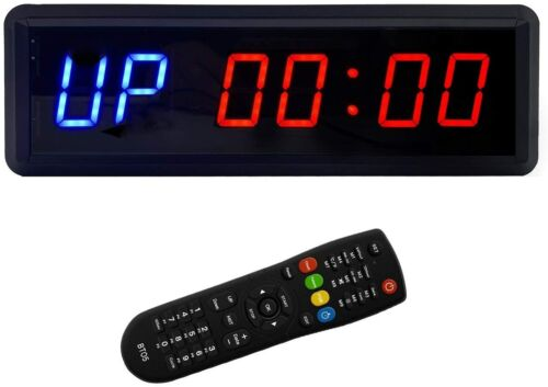 LED Interval Timer Count Down Up Clock Stopwatch with Remote for Home Gym