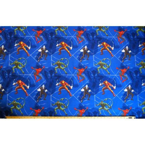 Spiderman Shocker Electro Scorpion TV 100/% Cotton Fabric 140cm Wide
