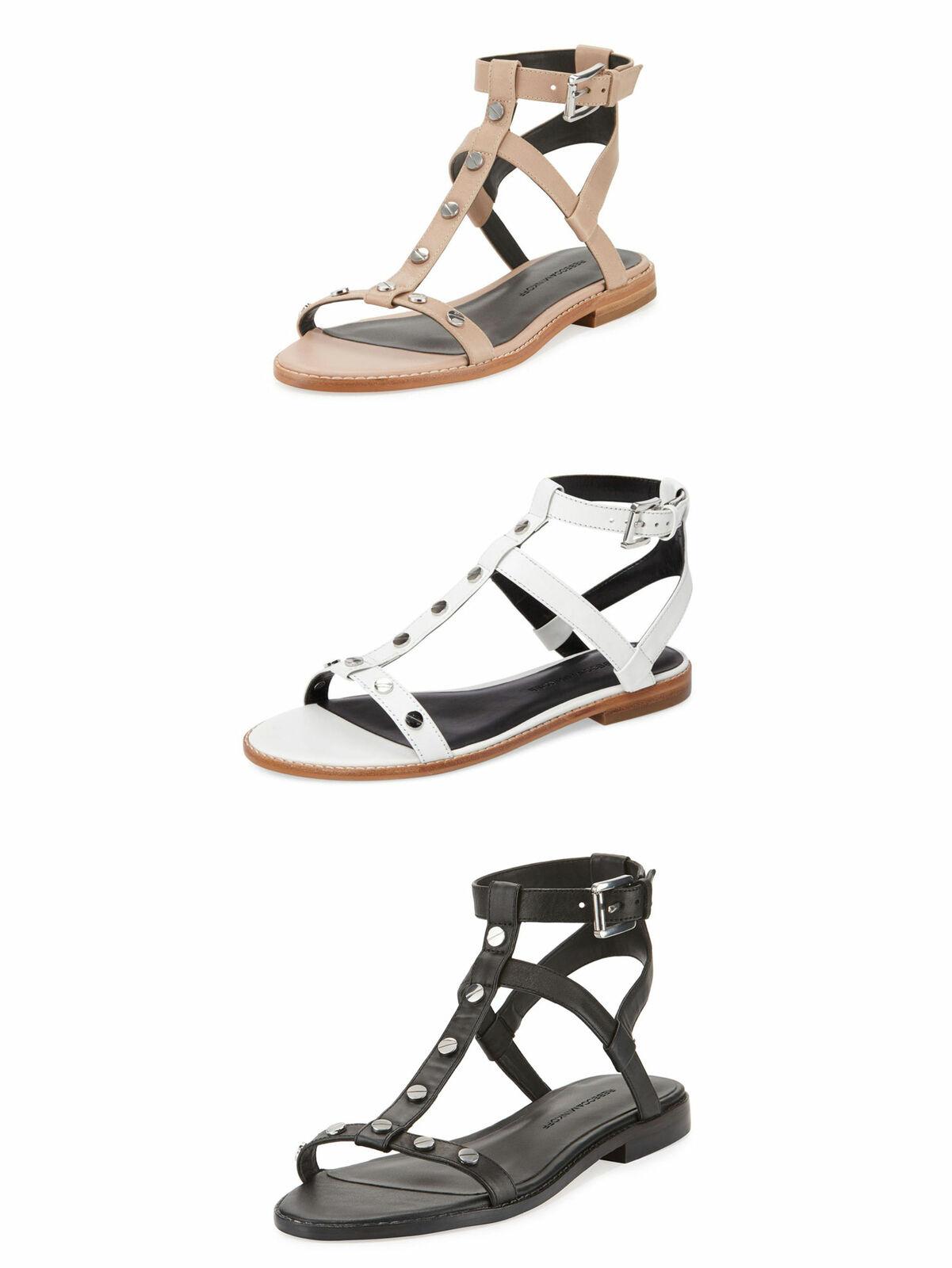 REBECCA MINKOFF Women's Sandy Leather Studded Sandals  125 NIB