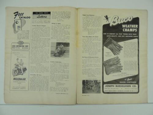Vintage Oct 1952 AMERICAN MOTORCYCLING Magazine Harley-Davidson Norton L3792