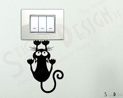 Adesivi Murali  Wall Gatto che si Arrampica Stickers Adesivi Cameretta Sticker
