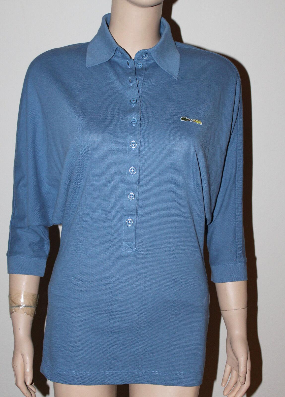 AUTH  Lacoste+Malandrino damen Blau Cool Polo XS