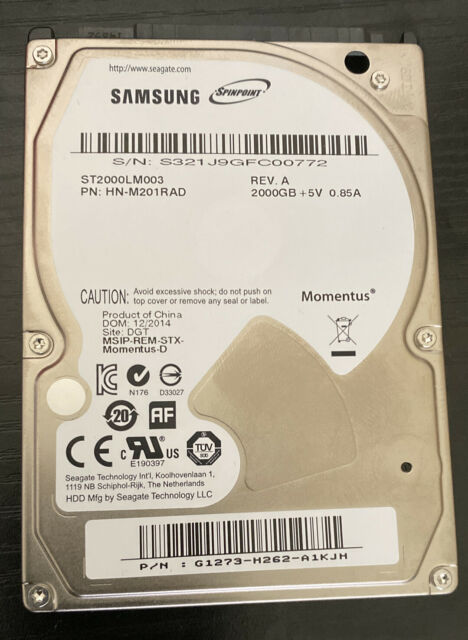 Seagate Spinpoint 2TB 2.5