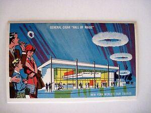 Interesting New York World's Fair 1964-65 Postcard Booklet Cigar Hall of Magic *