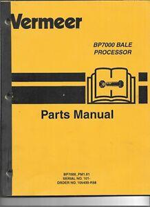 Original-OEM-Vermeer-Model-BP7000-Bale-Processor-Parts-Catalog-Manual-105400-R58