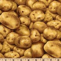 45 Long Bolt End Farmers Market Potatoes Quilt Fabric From Rjr 6792