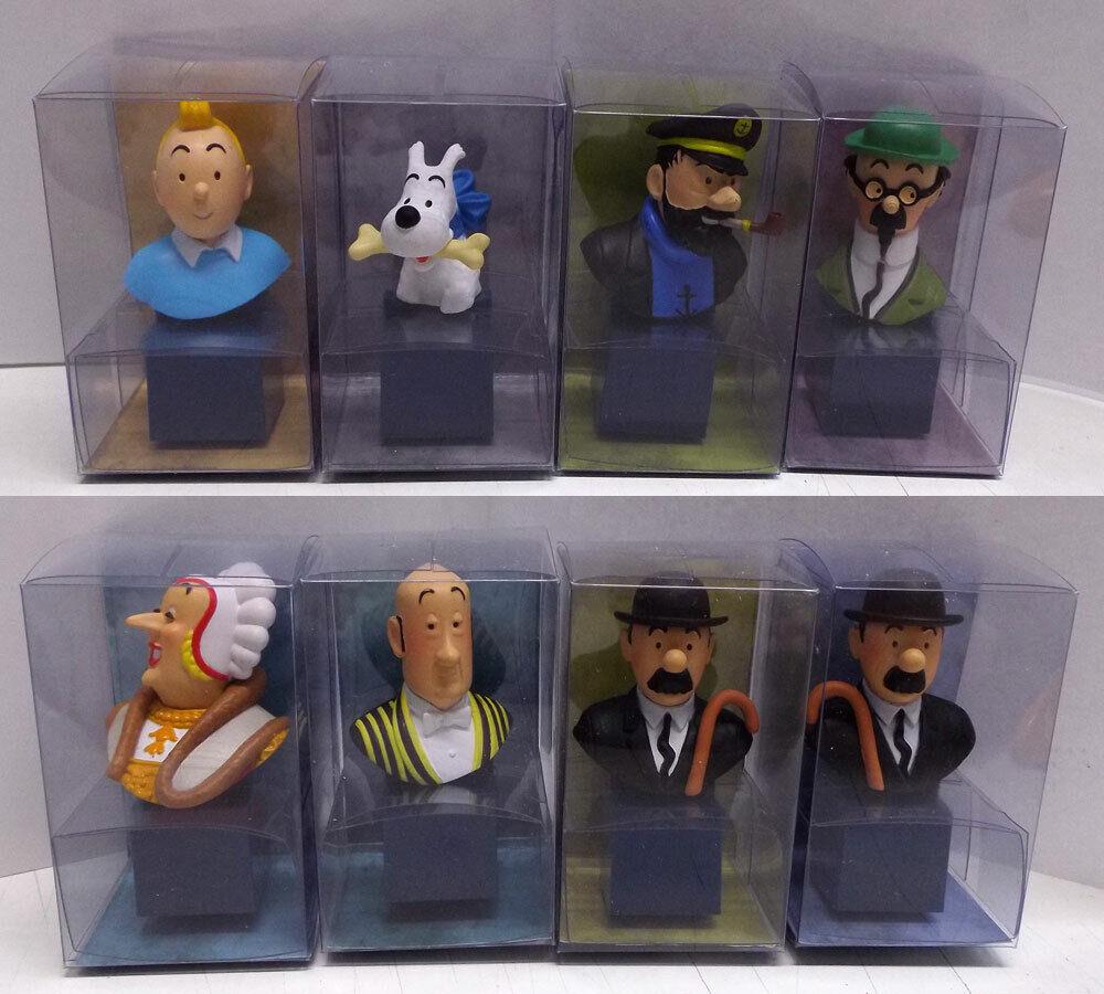 MOULINSART   Tintin   Hergé Série de 8 bustes PVC   2017 ☰