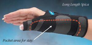 North Coast Medical Comfort Cool Long Thumb Spica Black