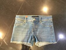 """Juicy Couture New & Genuine Girls Age 8/10 Denim Shorts With """"JC"""" Logo"""
