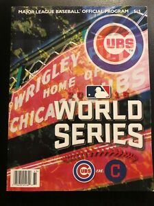 indians cubs cleveland mlb chicago program official vs series