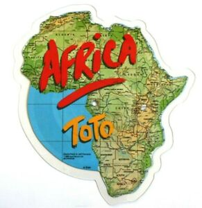 EX-EX-Toto-Africa-Vinyl-Shaped-Picture-Disc-1982-Original