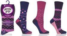 6 Paia Donna non elastici calzini diabetici Gentle Grip Morbido Top UK 4 - 8