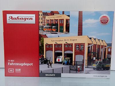 Auhagen 11451-h0 Kit-veicolo Depot-nuovo In Scatola Originale-mostra Il Titolo Originale